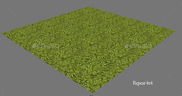 Fantasy Grass Tiled - 3DOcean Item for Sale