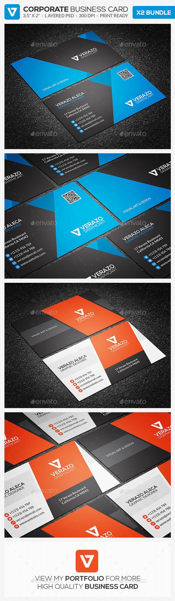 Business Card Bundle 15 - Corporate Business Cards