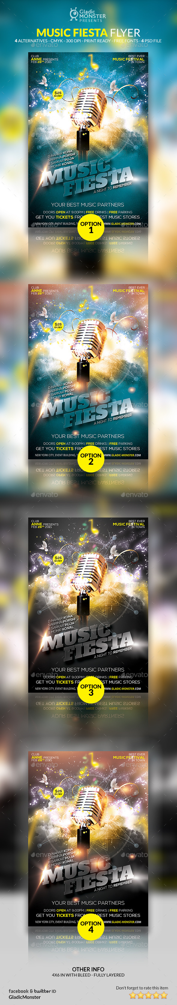 Music Fiesta - Events Flyers