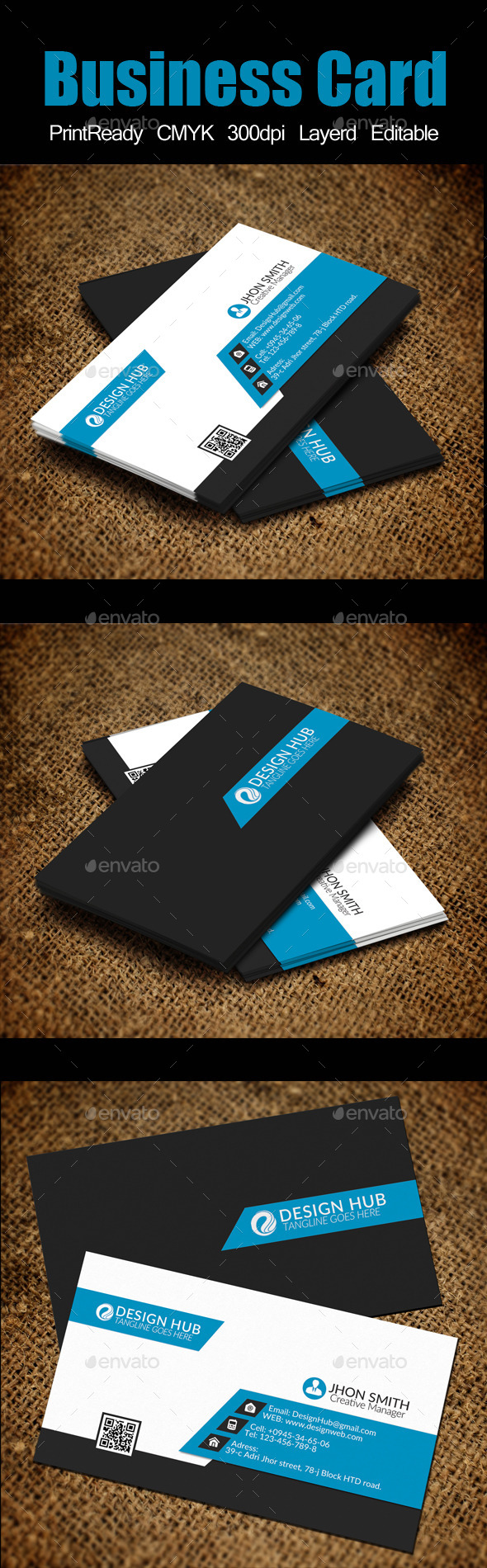 Business Card Template - Corporate Business Cards