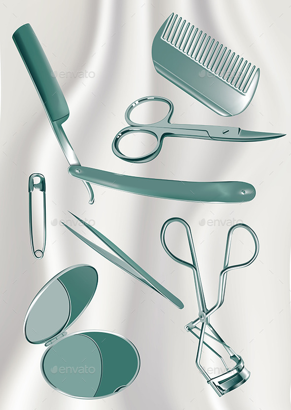 Metal Grooming Set - Man-made Objects Objects