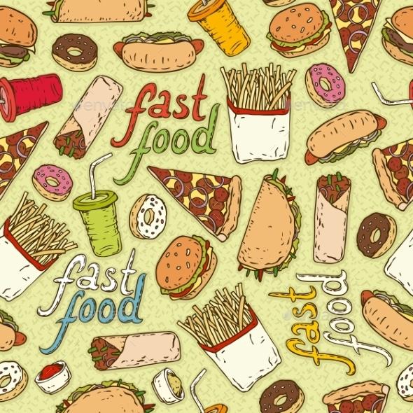 Fast Food - Patterns Decorative