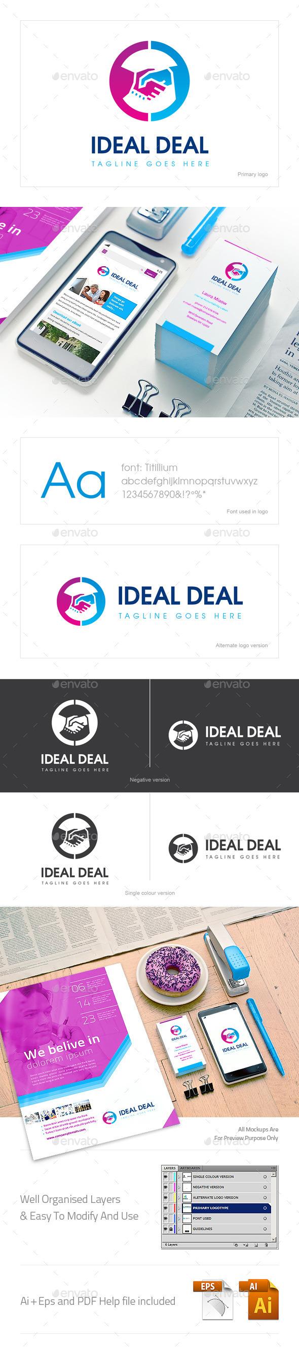 Ideal Deal Logo - Logo Templates