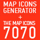 Map Icons Generator + The Map Icons 7070 - GraphicRiver Item for Sale