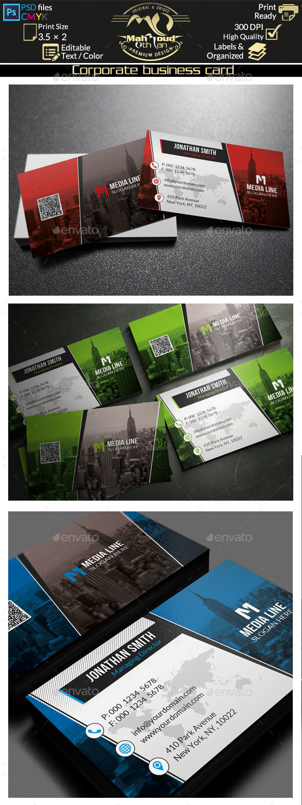 Corporate Business Card 80 - Corporate Business Cards