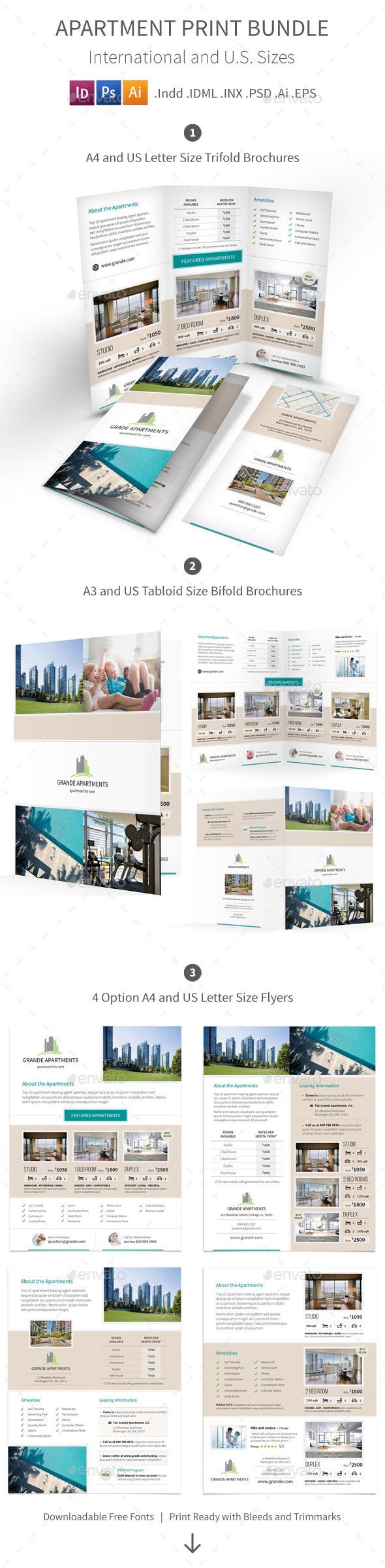 Apartment Real Estate Print Bundle - Informational Brochures