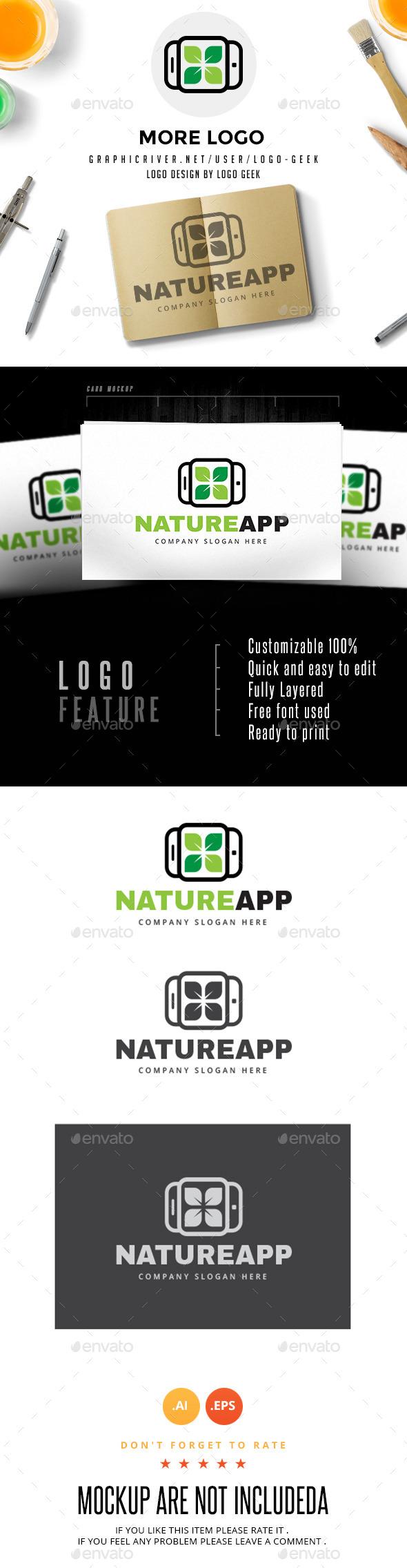 Nature App  - Logo Templates