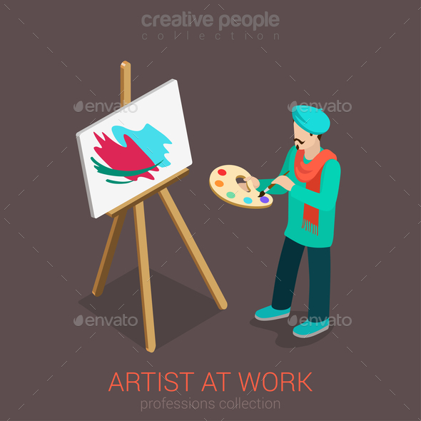 Artist Painter - People Characters