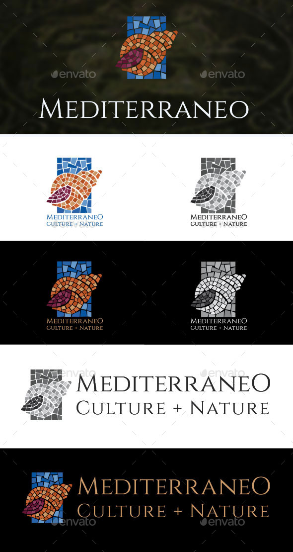 Mediterraneo Logo Template - Objects Logo Templates