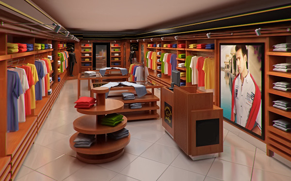 Classic Clothing Store Interior For Men And Women By