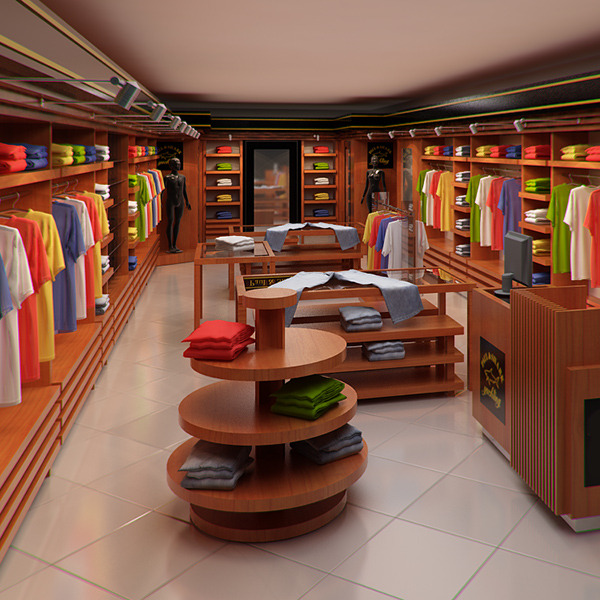 Classic Clothing Store Interior For Men And Women By Visualcg 3docean