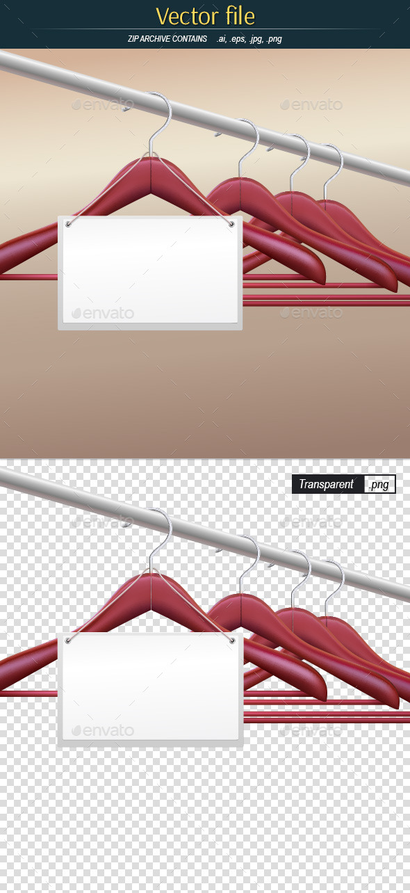 Hangers with Blank Label - Commercial / Shopping Conceptual