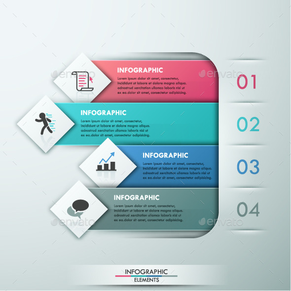 Modern Infographic Paper Template - Infographics