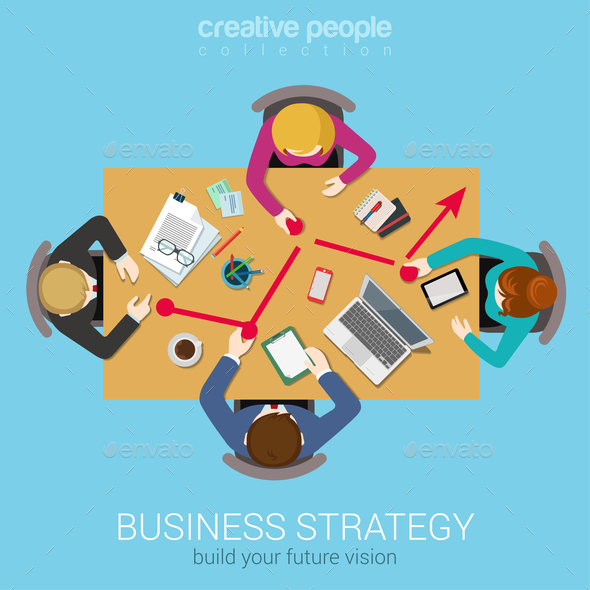 Business Strategy Graphic - Concepts Business