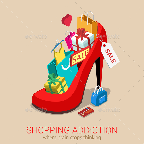 Shopping Addiction Sale - Concepts Business