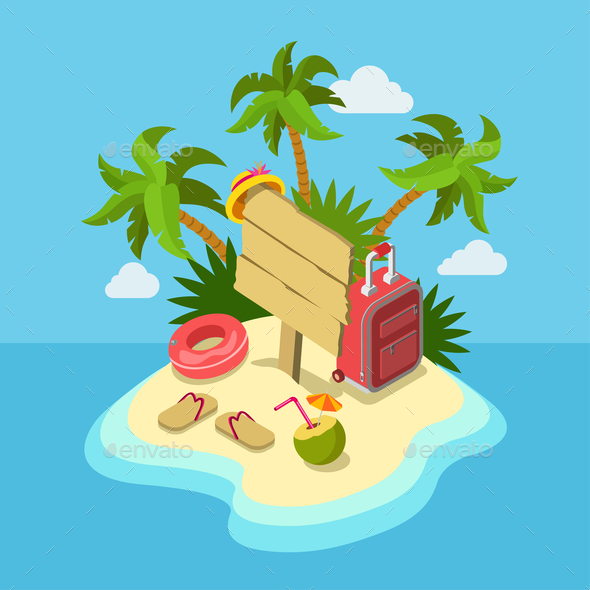 Tropic Island Beach - Travel Conceptual