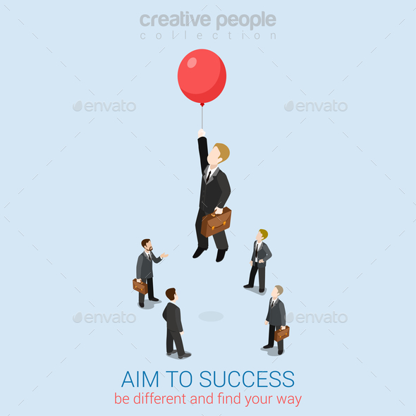 Aim to Success  - People Characters