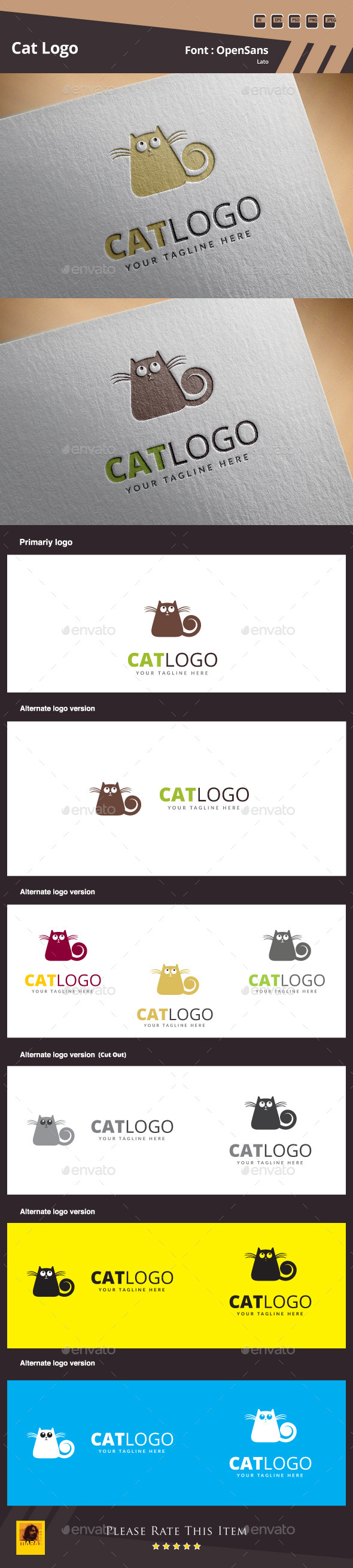 Cat Logo Template - Animals Logo Templates