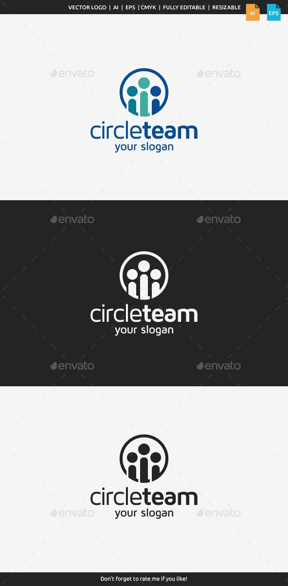 Circle Team Logo Template - Humans Logo Templates