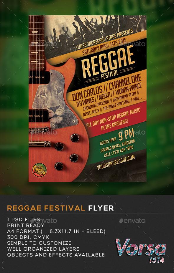 Reggae Fest Flyer  - Concerts Events