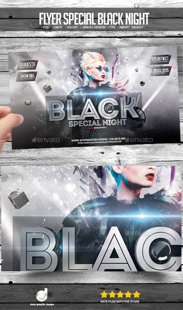 Flyer Special Black Night - Clubs & Parties Events