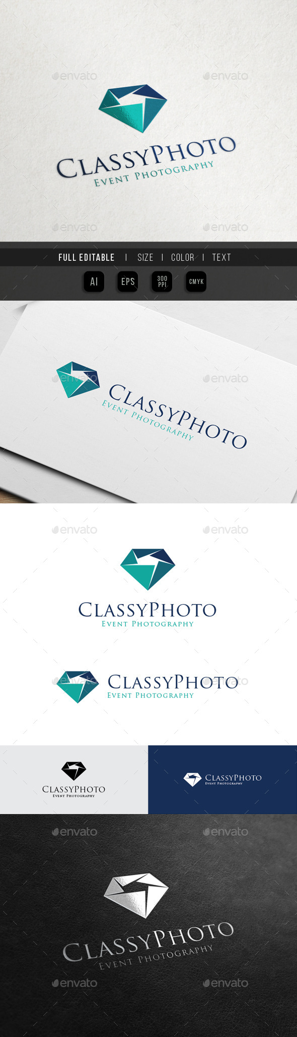 Event Photography - Jewel Camera  - Objects Logo Templates