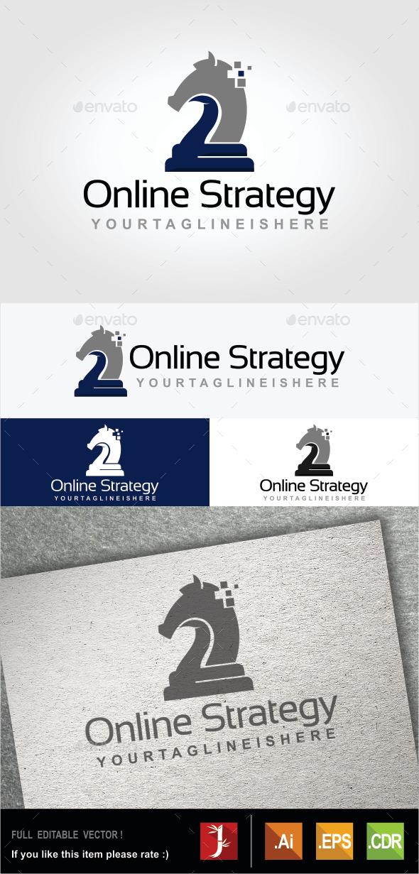 Online Strategy - Symbols Logo Templates