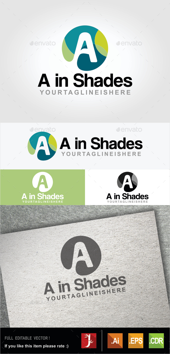 A in Shades - Letters Logo Templates