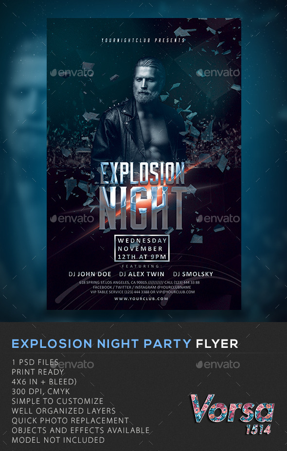 Explosion Night Party Flyer - Clubs & Parties Events