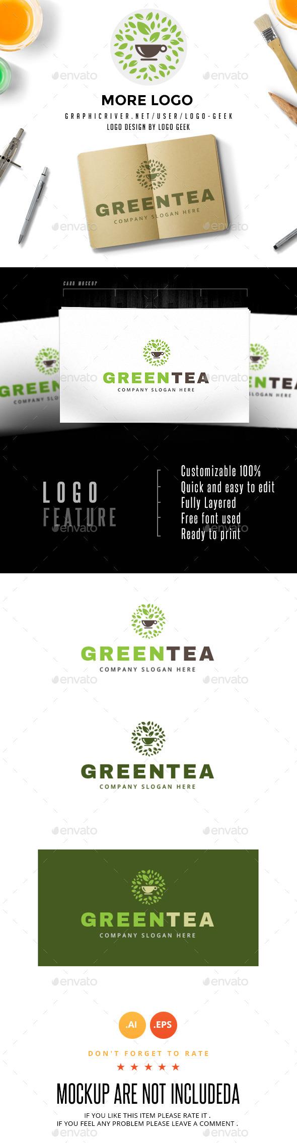Green Tea - Nature Logo Templates