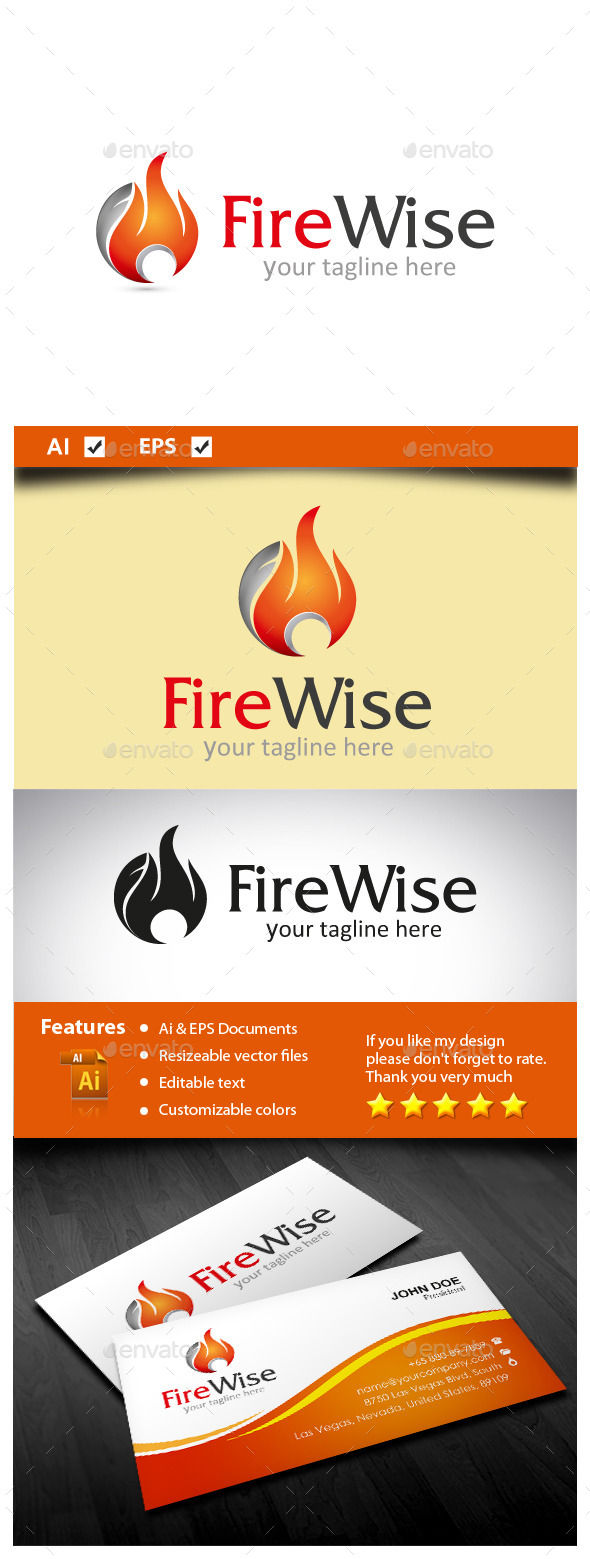 Fire Wise - Symbols Logo Templates
