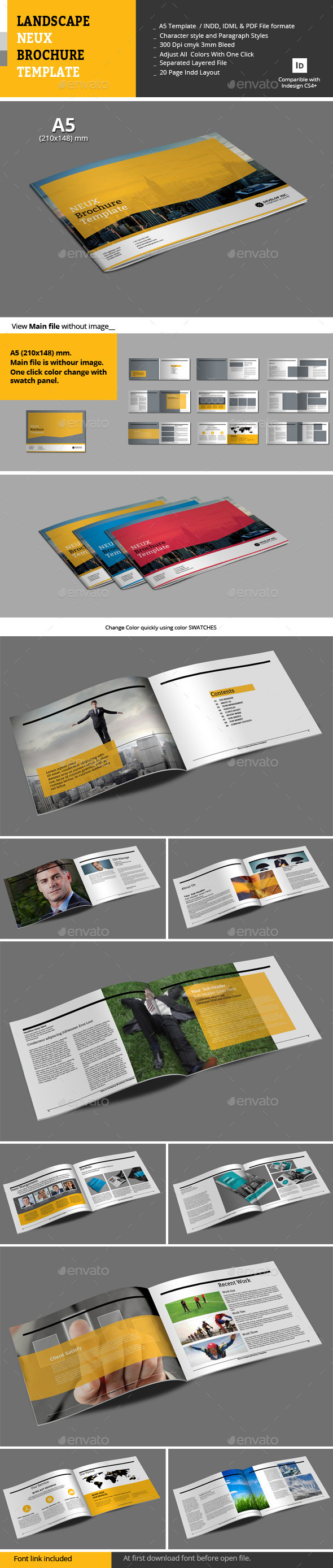 Landscape Neux Brochure Template - Corporate Brochures