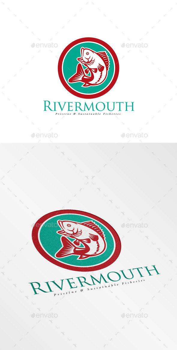 Rivermouth Sustainable Fisheries Logo - Animals Logo Templates