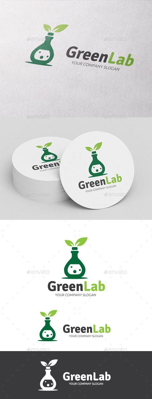 Green Eco Lab - Nature Logo Templates