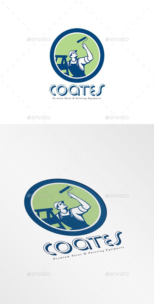 Coates Premium Painters Logo - Humans Logo Templates