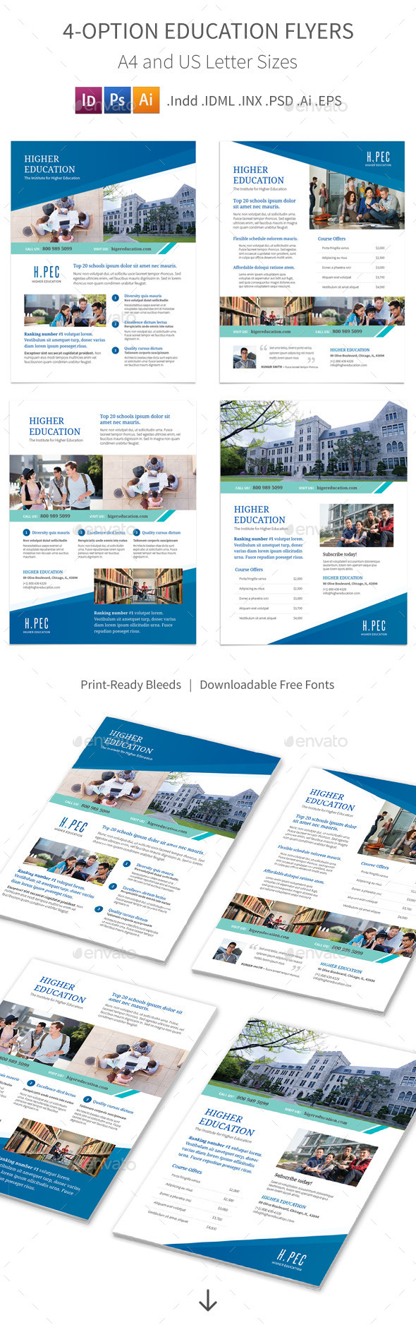 Education Flyers – 4 Options - Corporate Flyers