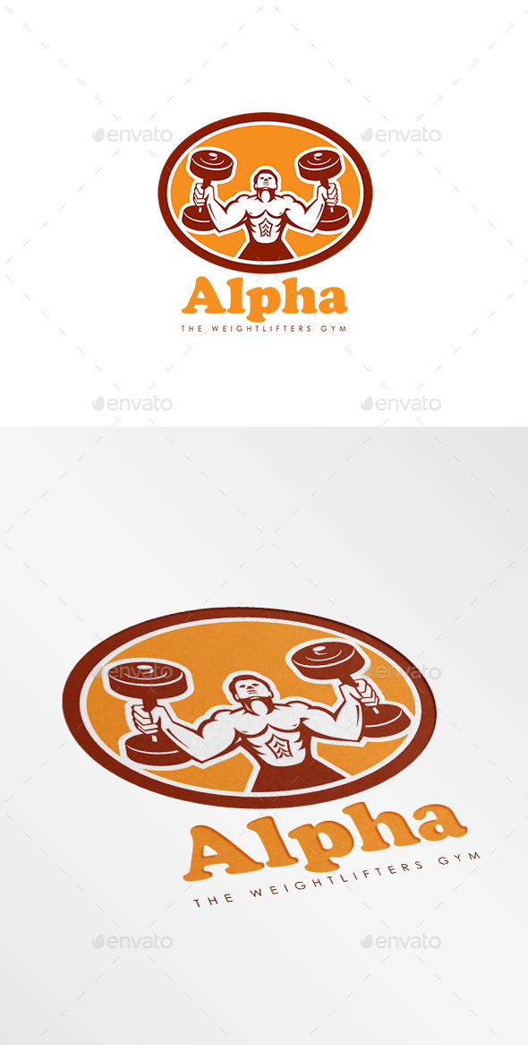 Alpha Weightlifters Gym Logo - Humans Logo Templates