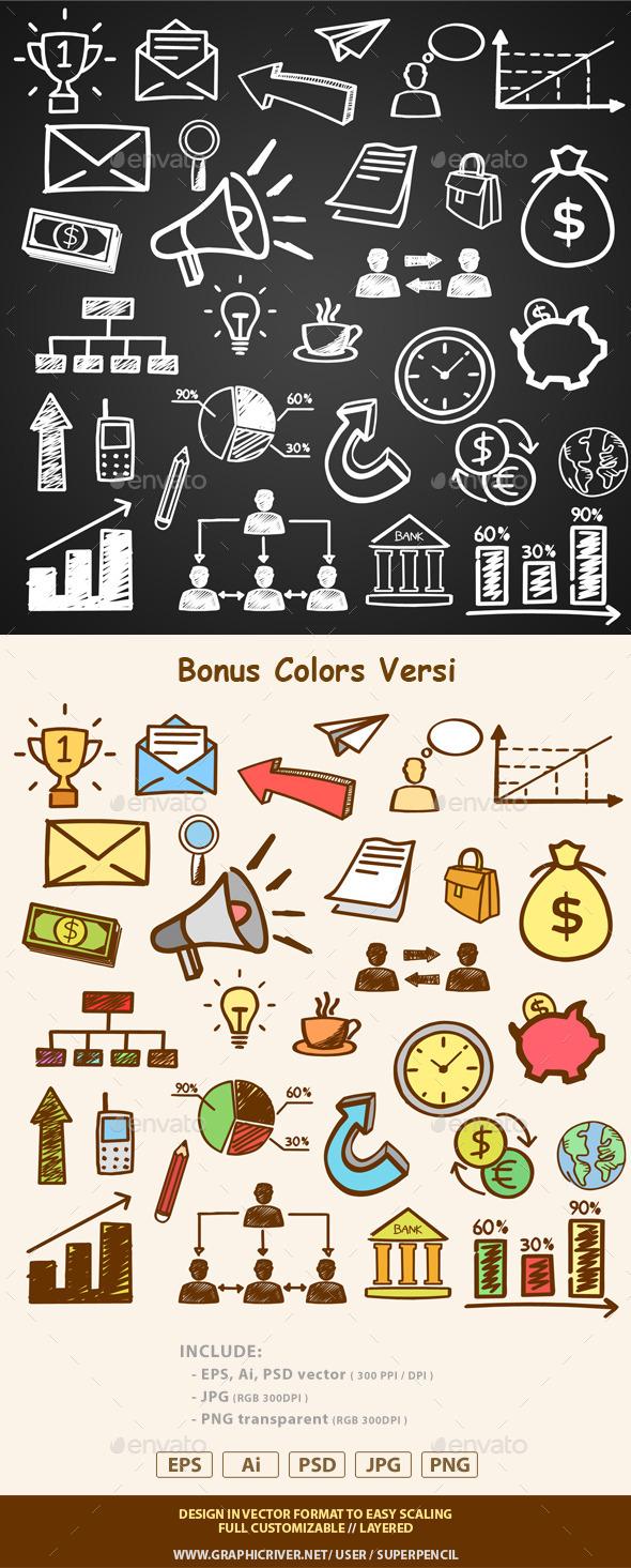 Doodles Business Set - Backgrounds Business