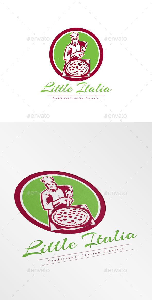 Little Italia Pizza Logo - Humans Logo Templates