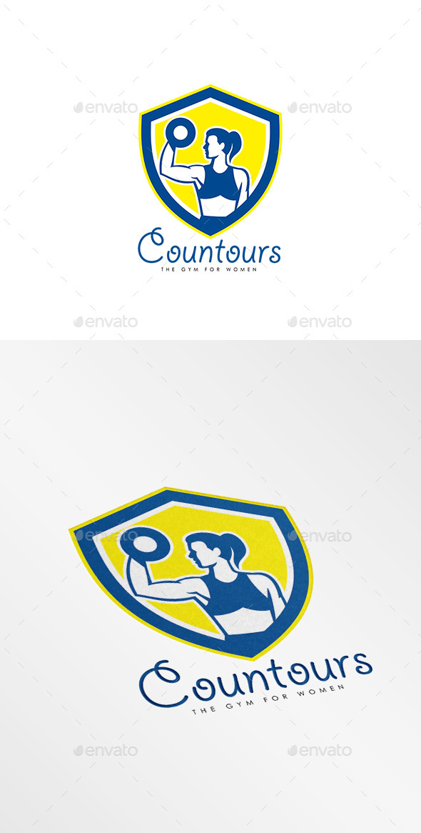 Contours Gym for Women Logo - Humans Logo Templates