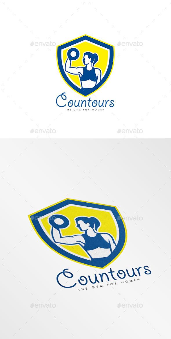 Contours Gym for Women Logo - Humans Logo Templates