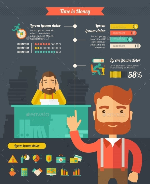 Business Infographic Elements. - Concepts Business