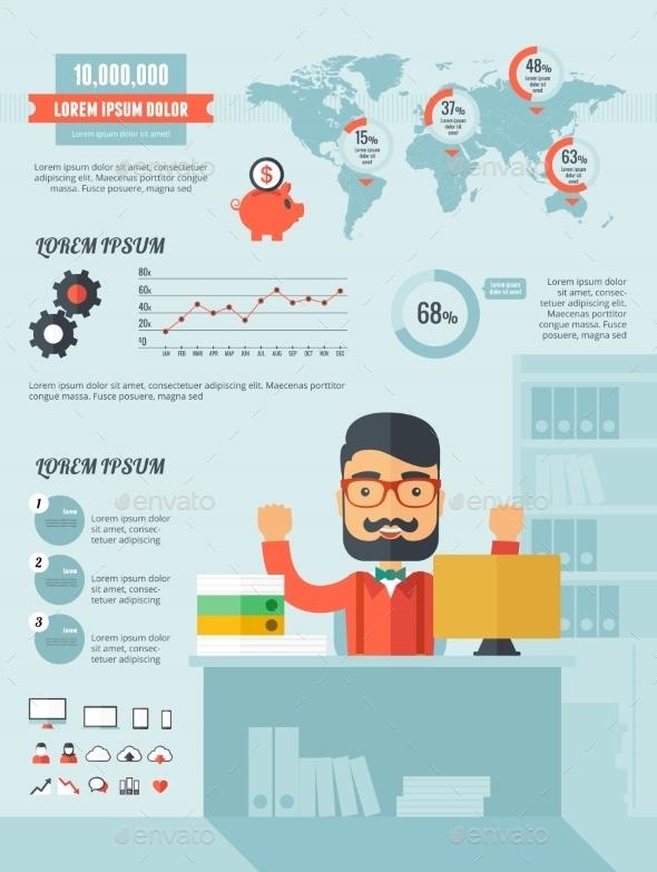 Technology Infographic Elements - Web Technology