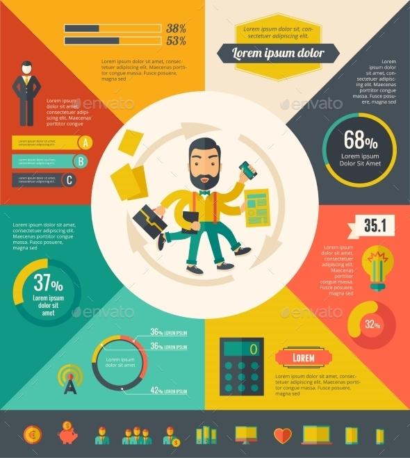 Multitasking Infographic Elements - Web Technology