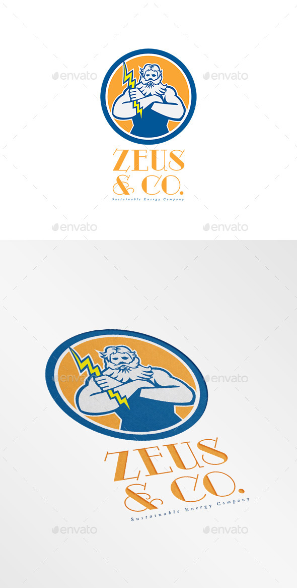 Zeus Sustainable Energy Company Logo - Humans Logo Templates