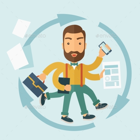 The Man Capable of Multitasking. - Concepts Business