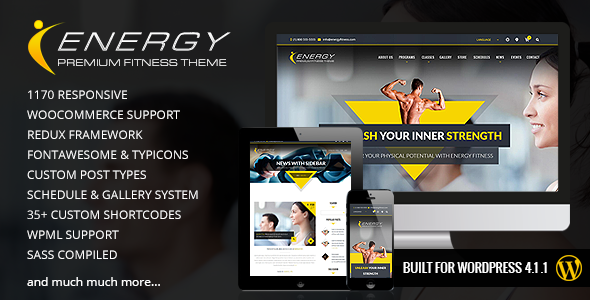 ENERGY – Responsive WordPress Fitness Theme