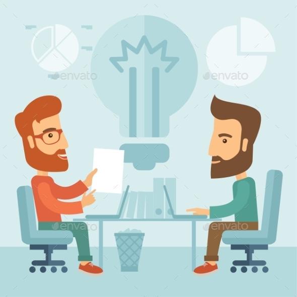 Business Brainstorming.  - People Characters