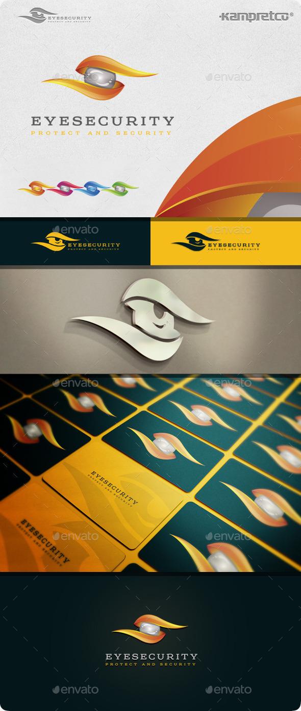 Eye Security Logo - 3d Abstract