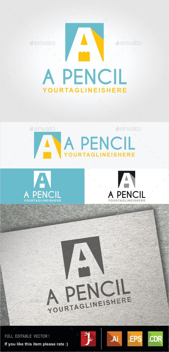 A Pencil - Objects Logo Templates